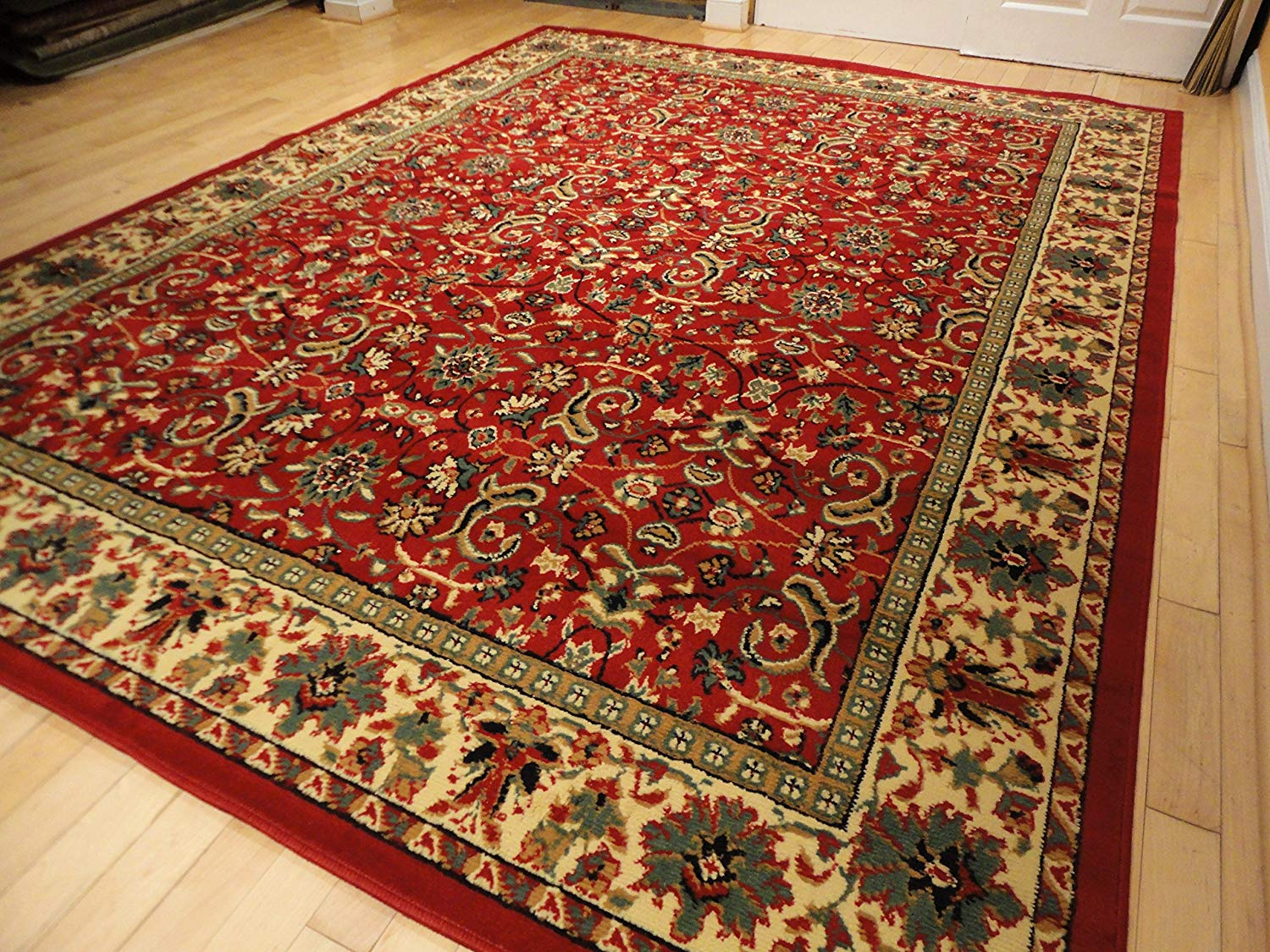 traditional rugs amazon.com: red traditional rug large red 8x11 persian rug red rugs for KAITWME