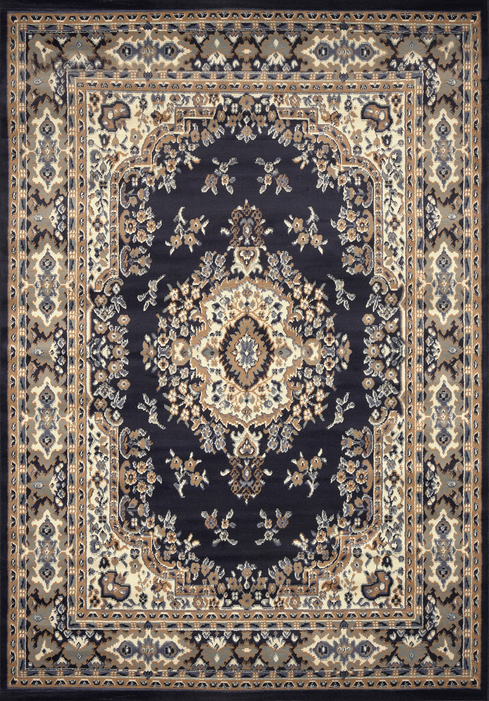 traditional rugs traditional medallion persian style 8x11 large area rug - actual 7u0027 8 XQBVRQY
