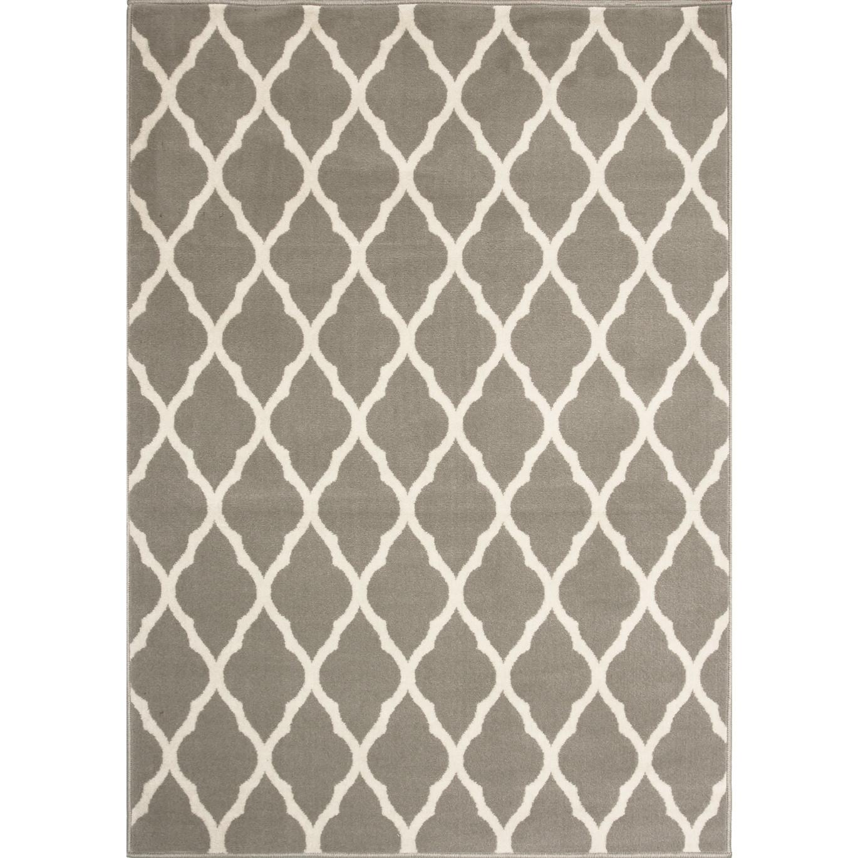 trellis taupe grey modern rug milan KHXSXGH