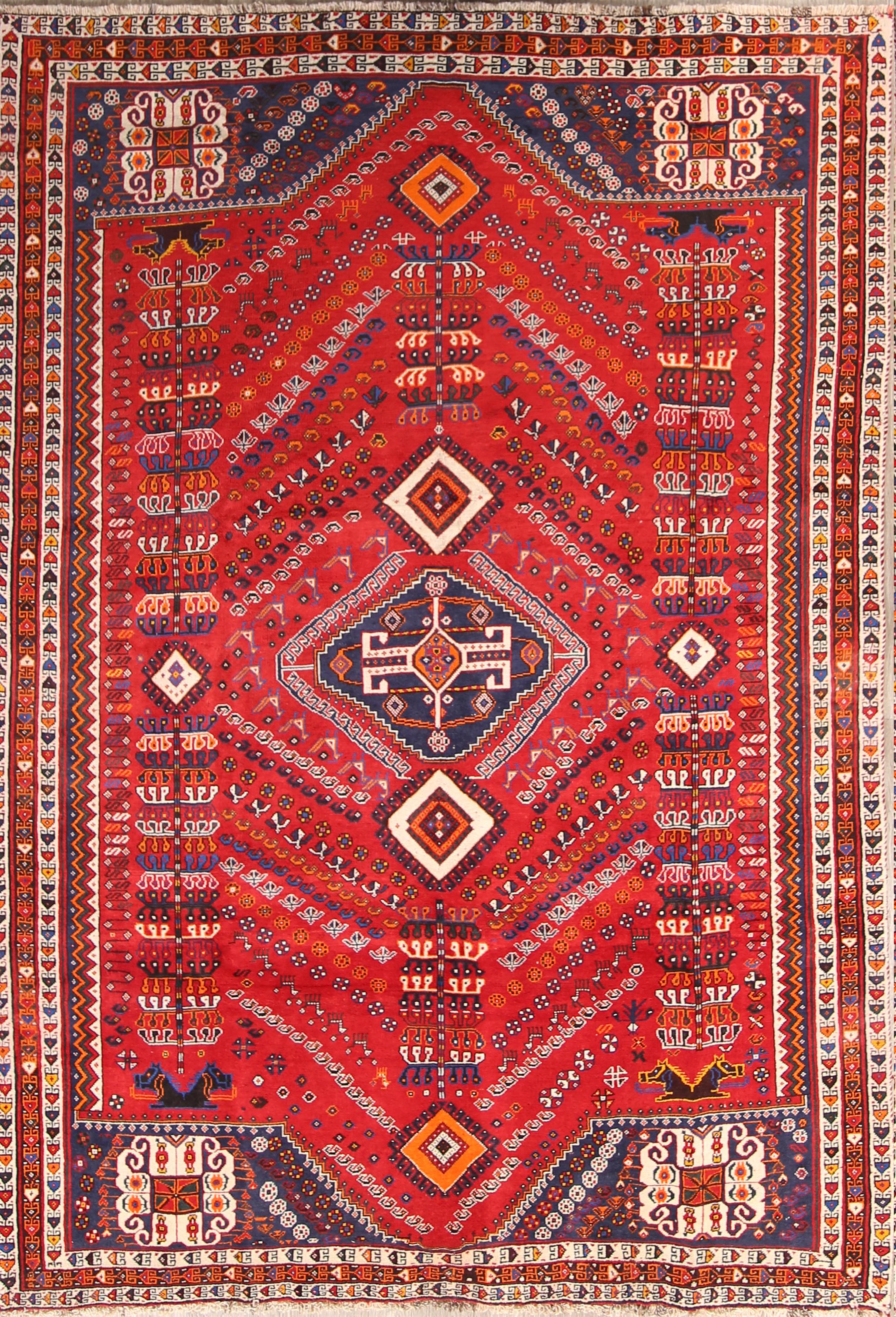 tribal rug geometric tribal 7x10 shiraz persian area rug WJXLVUG
