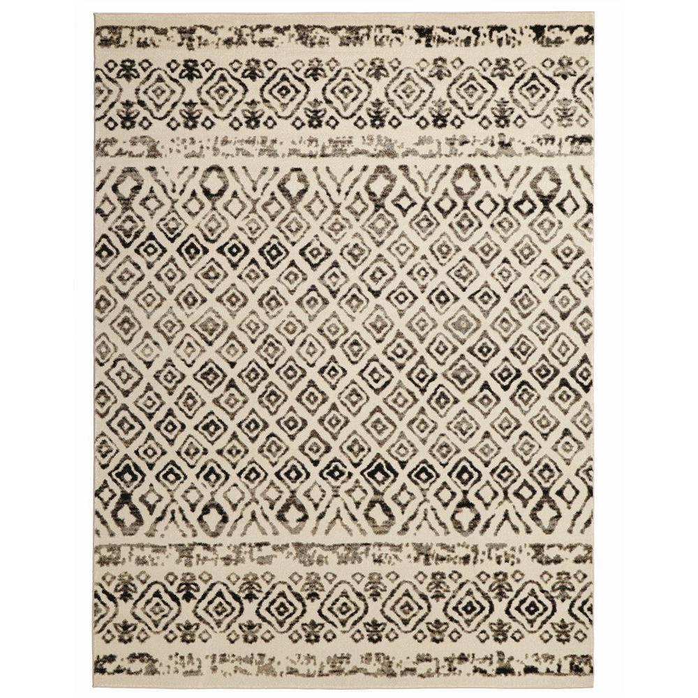 tribal rug home decorators collection tribal essence ivory 5 ft. x 7 ft. area rug ECTJSFR