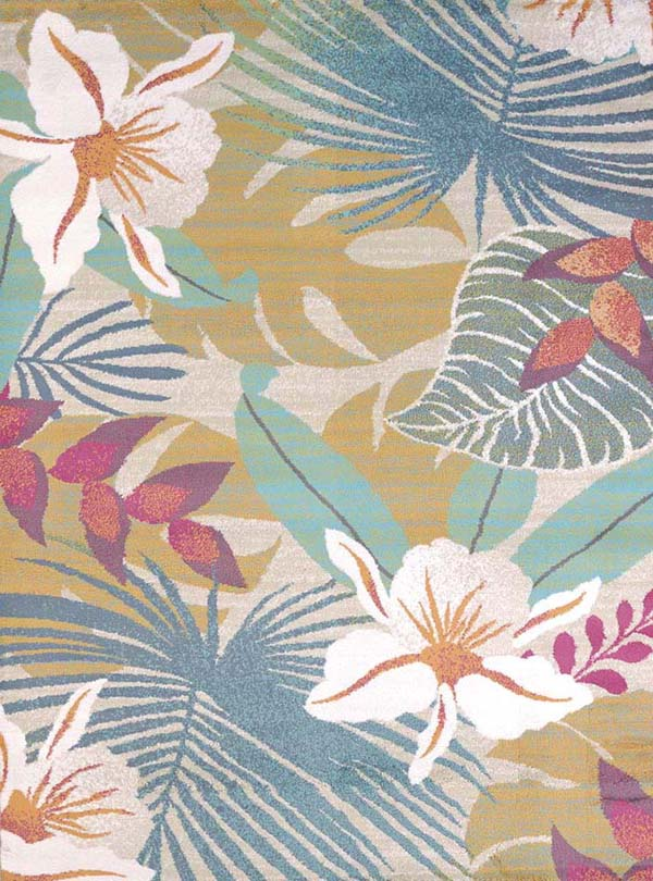 Tropical rugs delectably-yours.com flower jungle tropical coastal beach rug by united  weavers regional concepts GKEFLJC