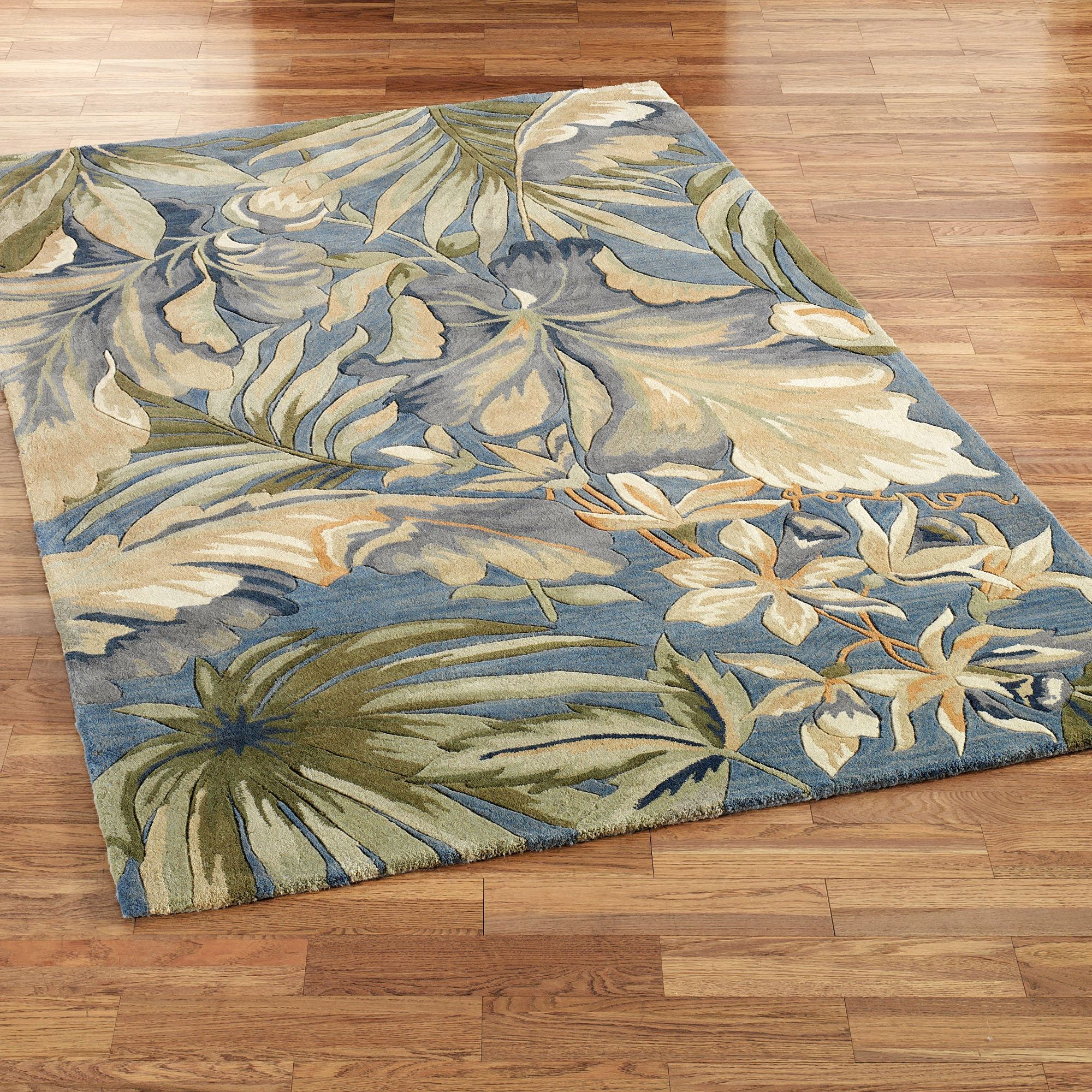 Tropical rugs bring an exotic charm and splendour into your home