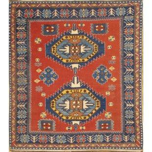 turkish rug turkish kazak hand-knotted wool red area rug UIYPYWI