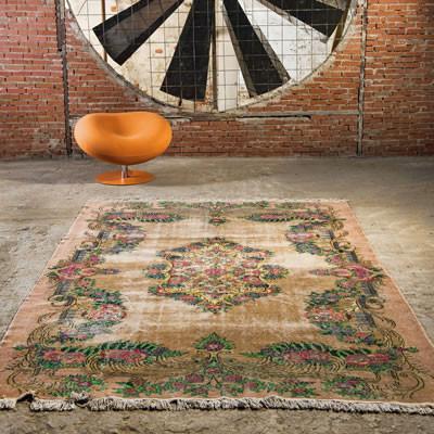 unique rugs neutral undyed vintage rugs MIQJZOR