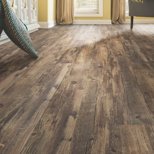 vinyl laminate flooring shaw resort teak | wayfair ZRPAKVH