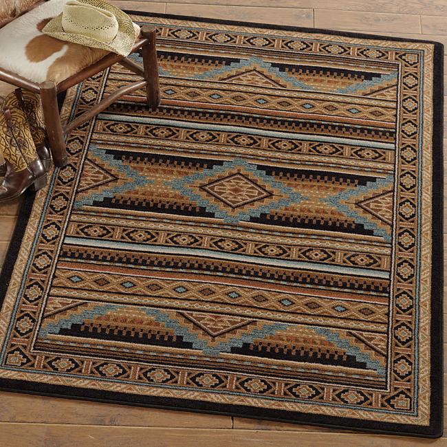 western rugs turquoise mountain rug - 11 x 13 PRRNSSQ