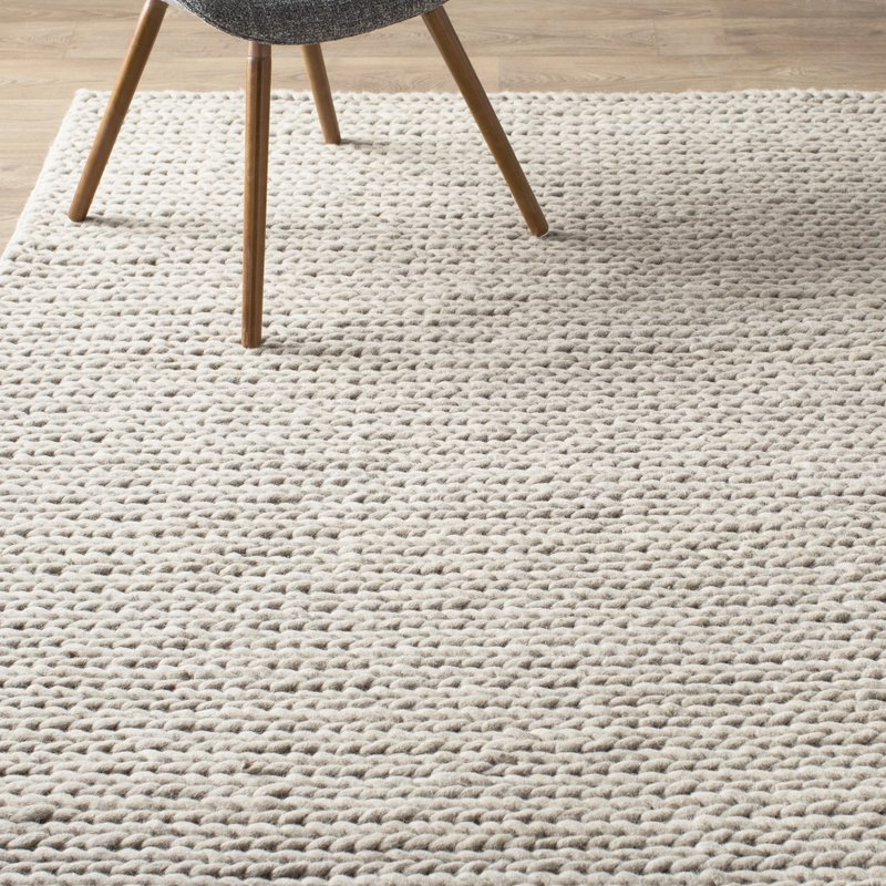white area rugs arviso hand-woven wool white area rug MROMCWX
