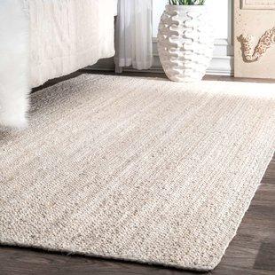 white area rugs burrillville hand-woven white area rug IHTXAFP