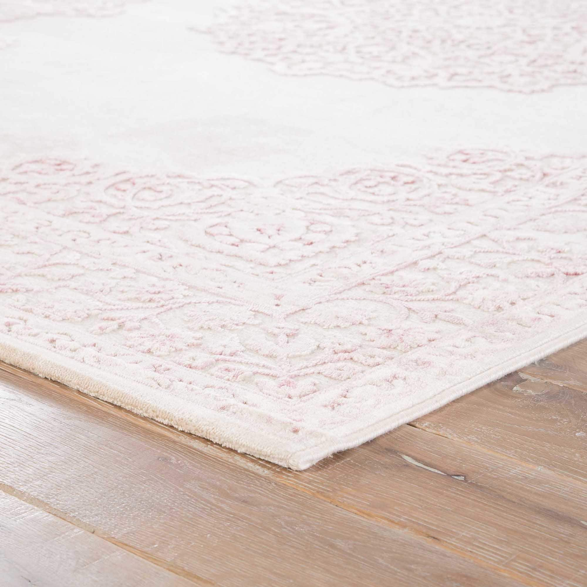 white area rugs maison rouge edith medallion pink/ white area rug - 5u0027 x 7u00276 JTVDUHQ