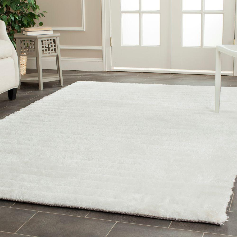 white area rugs safavieh 3d shag pearl 8 ft. x 10 ft. area rug IHYBEMY
