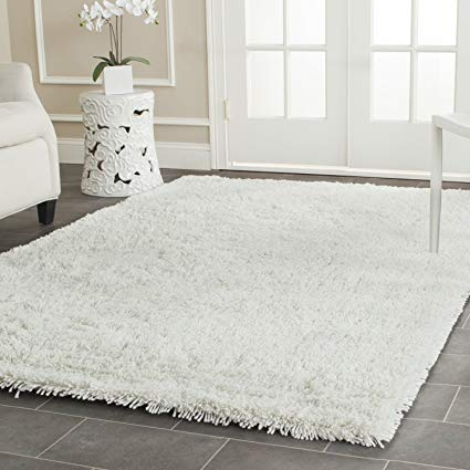 white area rugs safavieh classic shag collection sg240a handmade white area rug (5u0027 x ... ZMSMTDB