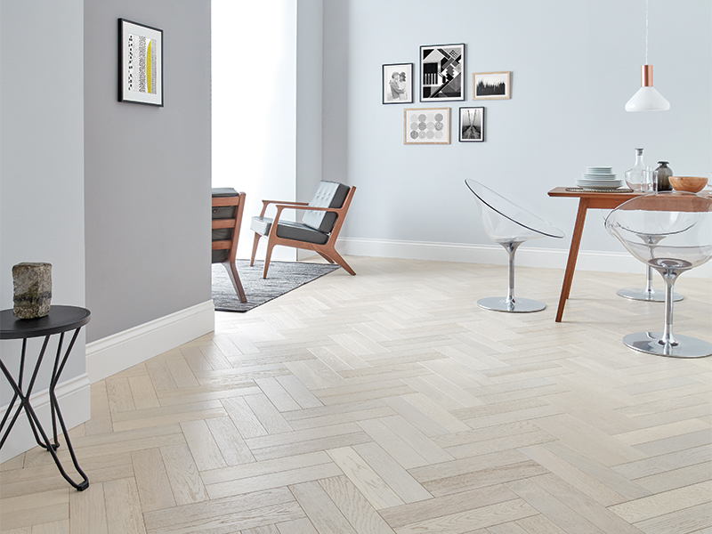 white wood flooring in parquet style RNSPMUY