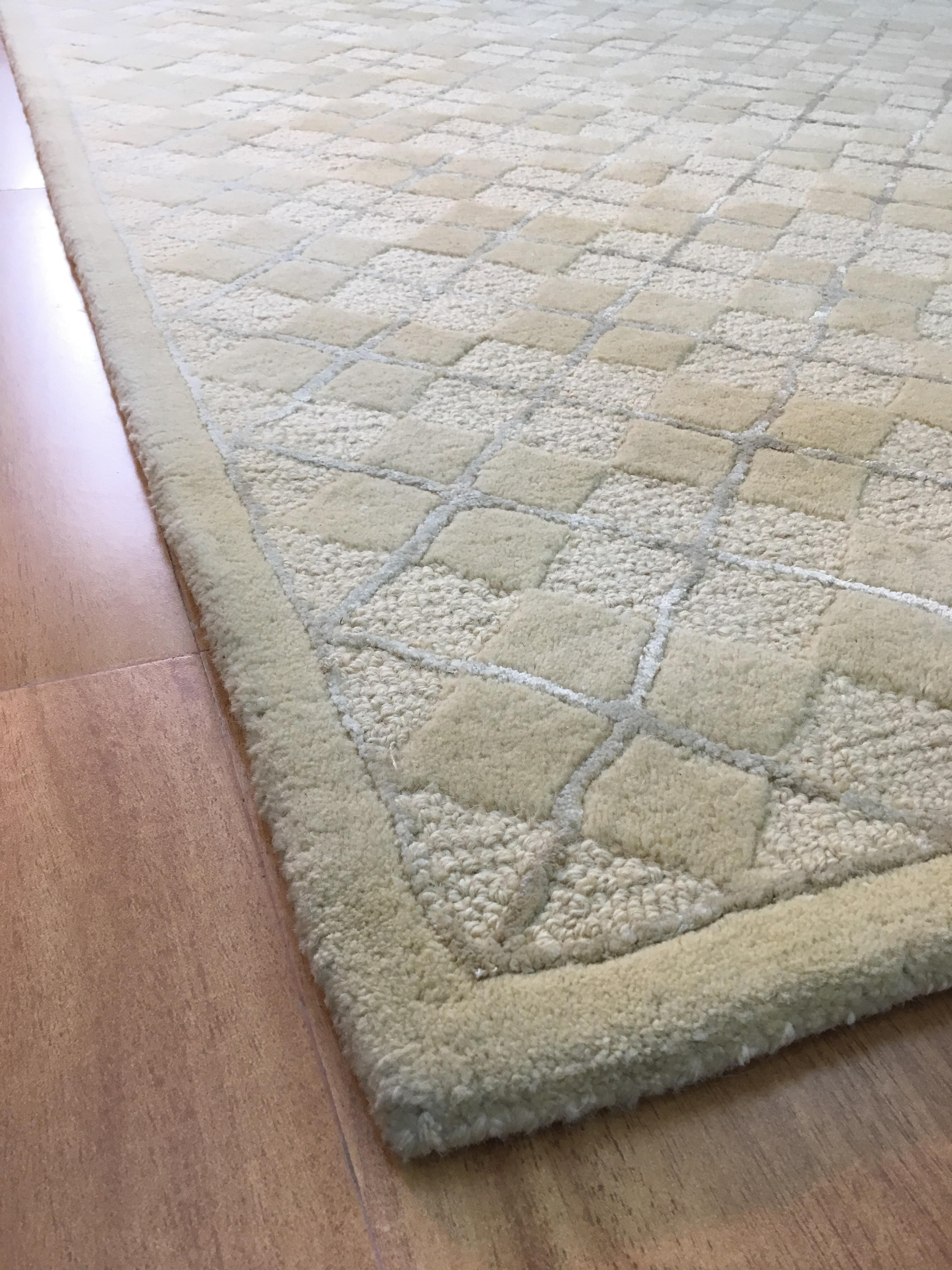 wool area rugs handmade wool/ viscose modern beige/ ivory 5x8 lt1015 area rug HHTTIFC