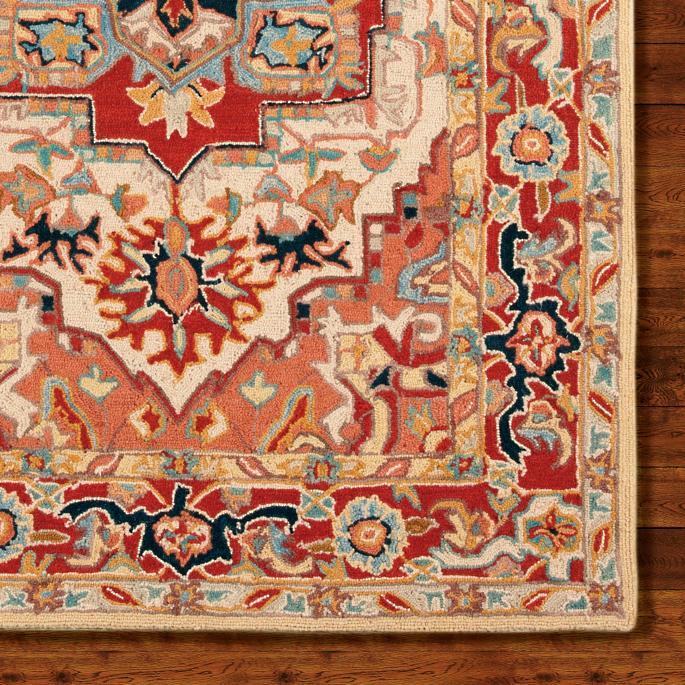 wool area rugs phoenix hand-hooked wool area rug WOCBRRL