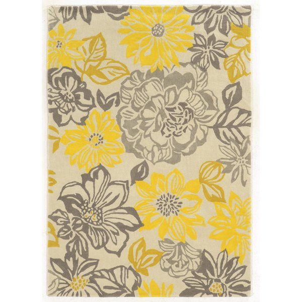 Yellow area rug august grove amezcua hand-woven gray/yellow area rug u0026 reviews | wayfair HYPHDJW