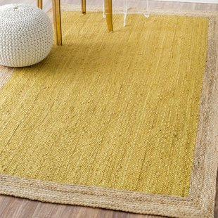 Yellow area rug merri hand-woven yellow area rug EDUJQCH