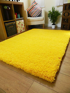 yellow rug image is loading new-bright-non-shed-thick-yellow-shaggy-rug- HERWOGW
