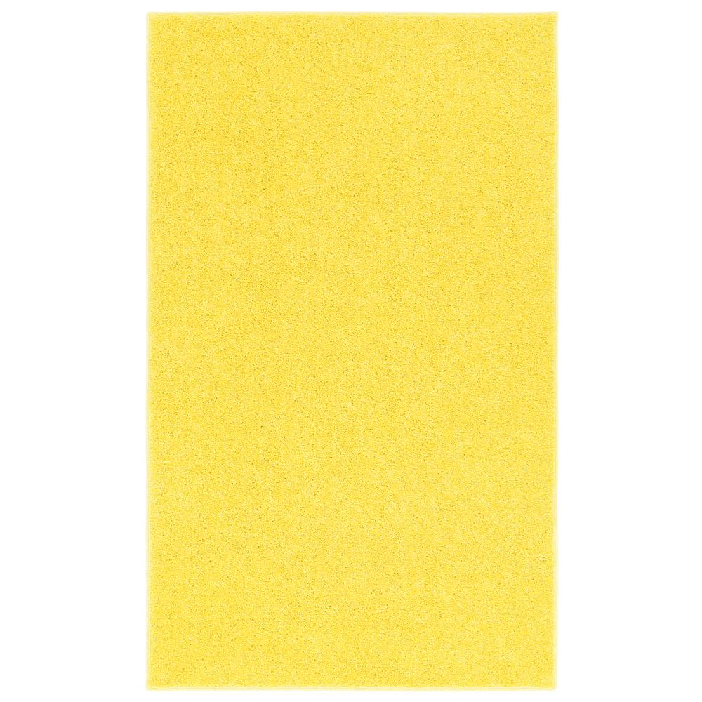 yellow rug nance industries ourspace bright yellow 4 ft. x 6 ft. area rug HJXVVCB