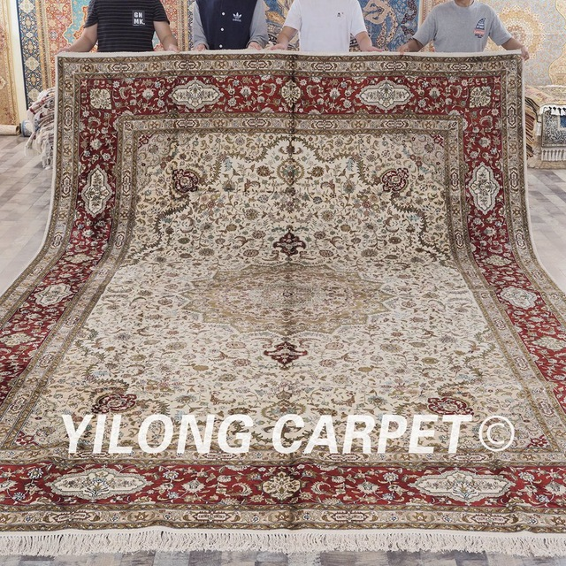 yilong 10u0027x14u0027 classic turkish style 100% handmade high quality rugs large  silk ROQCCPW