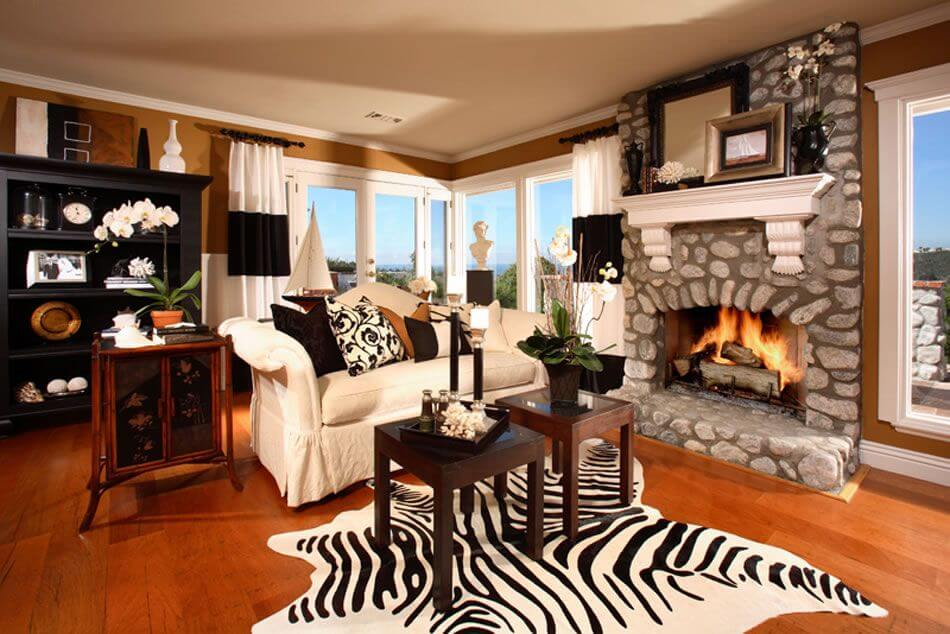 zebra print rug in living room zebra rugs. casual living room ... AAPJKNR