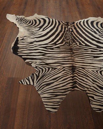 zebra print rugs lux zebra-print hairhide rug, 6u0027 x 7u0027 WGHWEIV