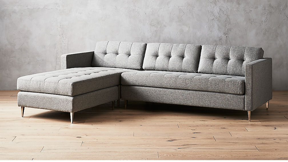 Seating furniture – grey sectional sofa