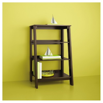 3-Shelf Trestle Bookcase Espresso - Room Essentials™ : Target