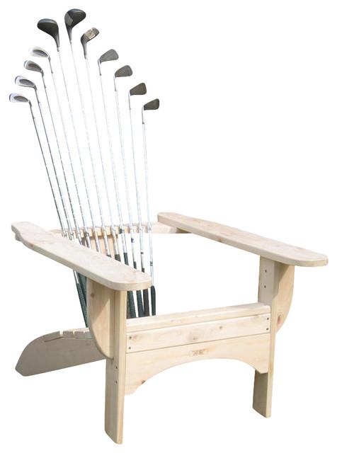 Golfclub Adirondack Chair in Blond Finish - Contemporary