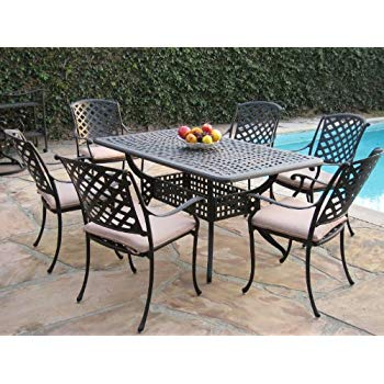 Amazon.com: Kawaii Collection Outdoor Cast Aluminum Patio Furniture