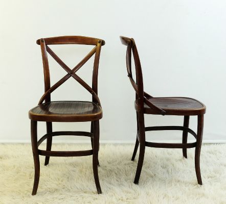 Antique Chairs by Jacob & Josef Kohn for Thonet, Set of 2 for sale