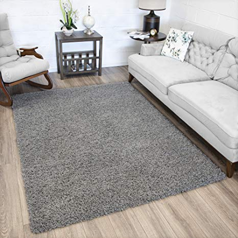 Amazon.com: Ottomanson SHG2763-3X5 Collection shag Area Rug 3'3