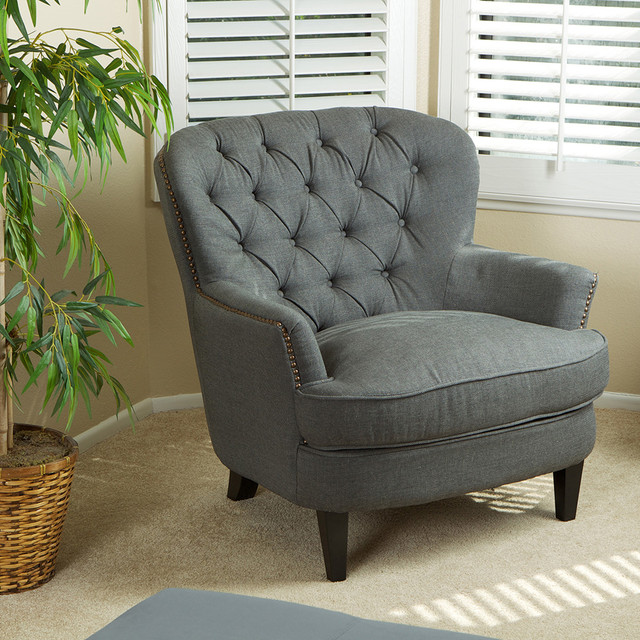 Watson Royal Vintage Design Upholstered Arm Chair - Modern - Living