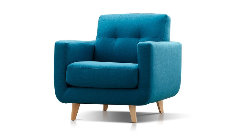 Coast scandi style teal armchair