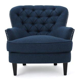 Blue Pattern Accent Chair | Wayfair