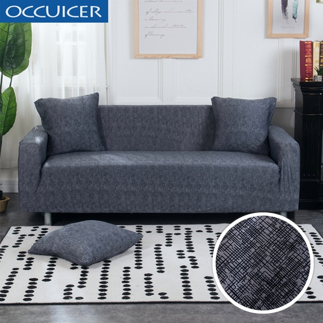 Cross pattern Sofa Cover Elastic Stretch Universal Slipcover for