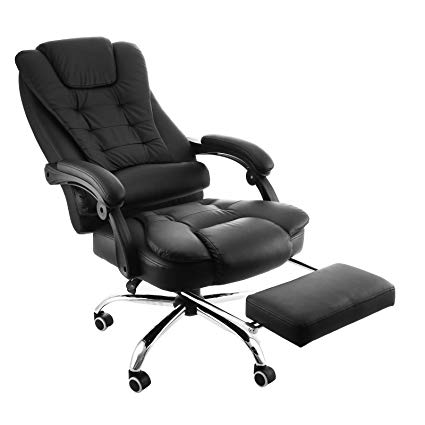 Amazon.com: Happybuy Executive Swivel Office Chair with Footrest PU