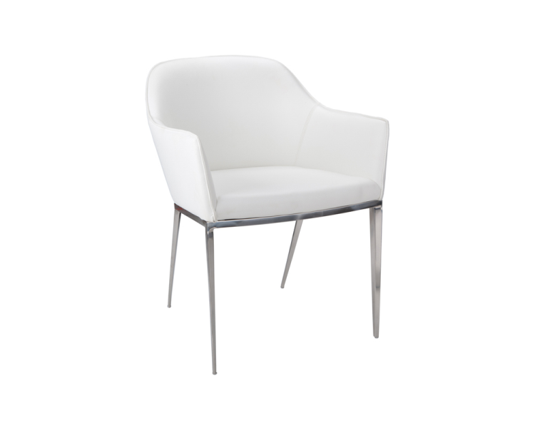 Stanis Armchair - White | Arm Chairs | At-Hom