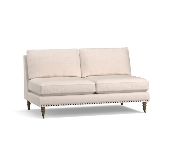 Tallulah Upholstered Armless Loveseat | Pottery Barn