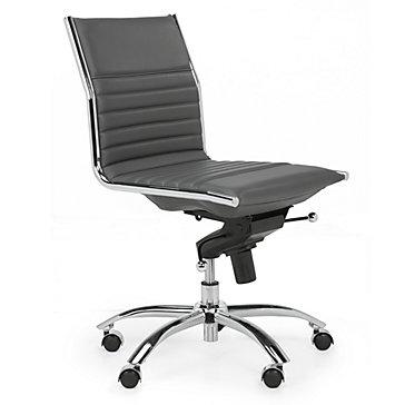 Malcolm Armless Desk Chair - Grey | Jett Desk White Aqua Office