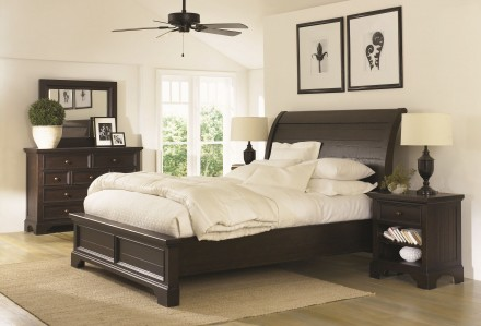Aspenhome Aspenhome Bayfield Sleigh Bedroom Set in Dark Mahogany