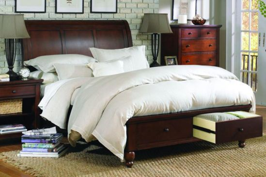 Mancini's Sleepworld - Aspen Home Cambridge Sleigh Bed with Storage