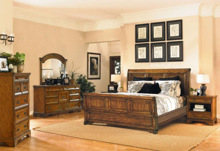 aspenhome Centennial 5 Piece Sleigh Storage Bedroom Set