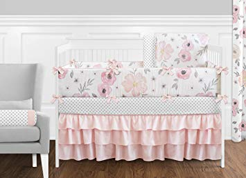 Amazon.com : 9 pc. Blush Pink, Grey and White Shabby Chic Watercolor
