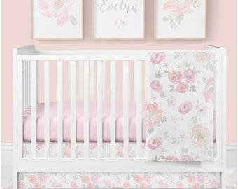 Girl crib bedding | Etsy