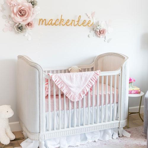 Baby Girl Crib Bedding | Pink Baby Girl Bedding | Pink Crib Bedding
