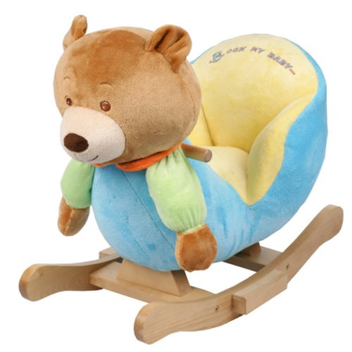 Plush Bear Baby Rocking Chair Kids Toy Ride Rocker Plush Toddler | eBay