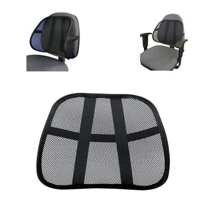 Cool Breathable Mesh Support Lumbar Support Cushion Seat Back Muscle