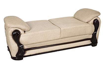 Fabsy Interiors Classic Backless Sofa Two Seater- Brown: Amazon.in