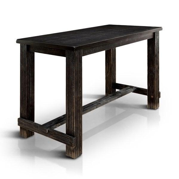 Shop Telara Contemporary Antique Black Bar Table by FOA - On Sale